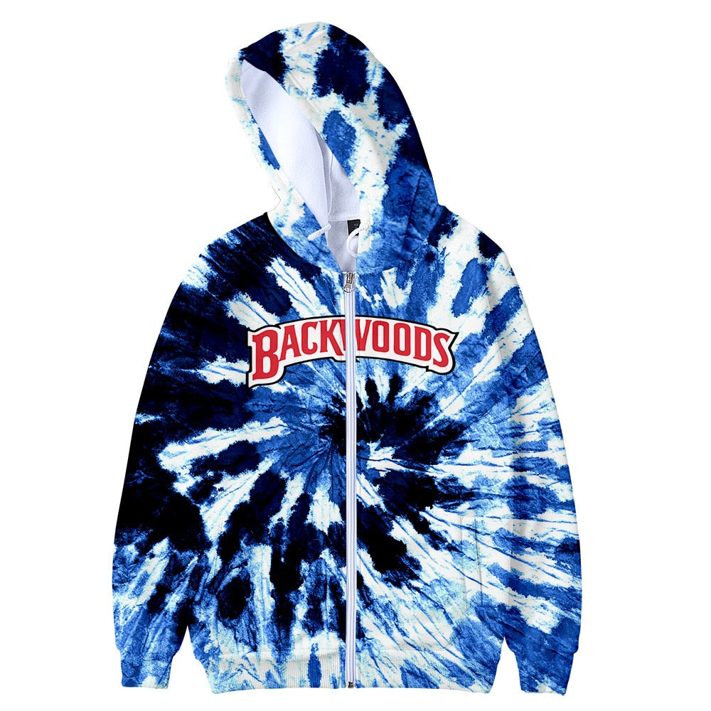 Backwoods Zip-Up Tie-Dye Hoodie Jacket
