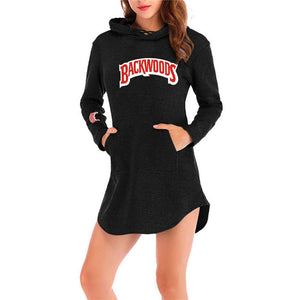 Backwoods Long-sleeve Comfort Mini Dress with Hood