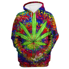 Load image into Gallery viewer, Kush, Widow, Green Leaf Psychedelic Exclusive Small Batch Hoodie