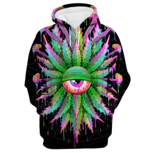 Load image into Gallery viewer, All-Seeing High Leaf Psychedelic Hoodie
