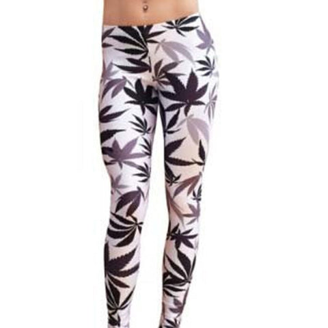 White Leaf Leggings
