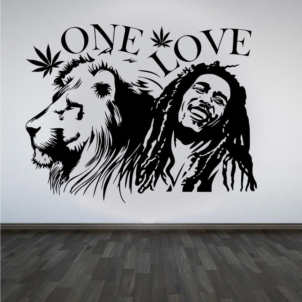 Wall Stickers, 2 sizes available Bob Marley Lion Zion