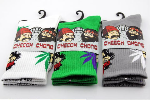 Cheech Chong Socks (Many Colors to Choose from)