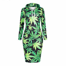 Load image into Gallery viewer, Stoner Queen Casual Dress w Hood