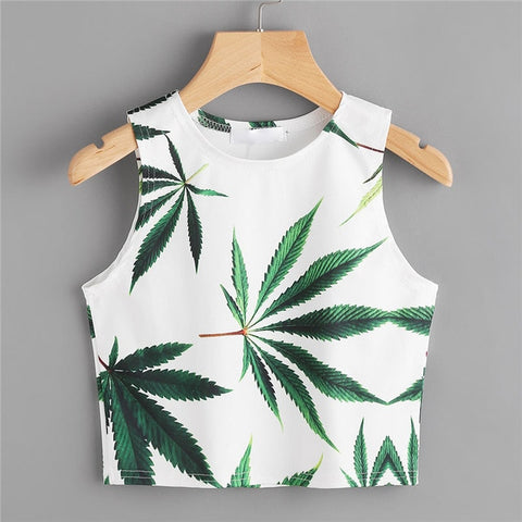 Leaf Clean Cut Crop Top