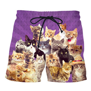 Weed Kitty Casual shorts, Swimming Trunks
