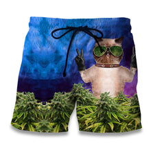 Load image into Gallery viewer, Weed Kitty Casual shorts, Swimming Trunks