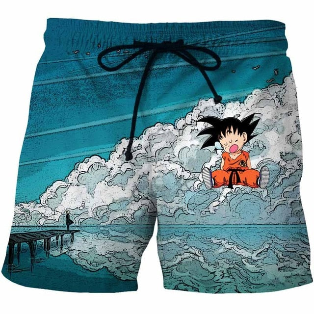 High Clouds Goku Summer Beach Shorts