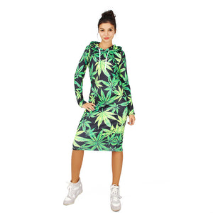 Stoner Queen Casual Dress w Hood