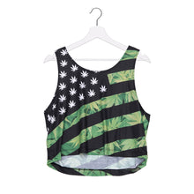 Load image into Gallery viewer, Leaf Stars American Flag Crop Top