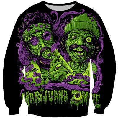 Cheech and Chong Marijuana Zombies Sweatshirt