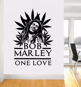 Marley One Love Leaf Wall Vinyl