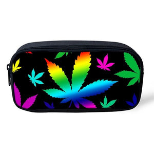 Rainbow Leaf Pencil/Cosmetic Case