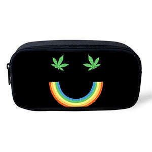 Rainbow Smile Leaf Pencil/Cosmetic Case