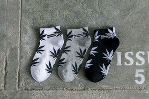 Ankle Leaf Socks (3 Pairs in Every Order)