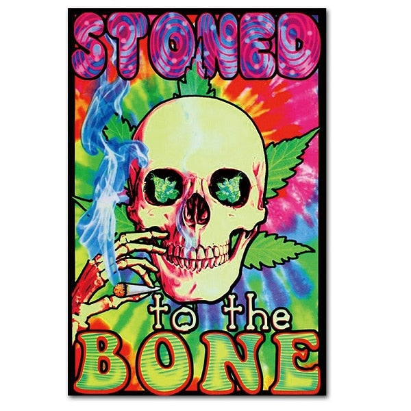 Stoned to the Bone Unframed Silk Canvas Poster