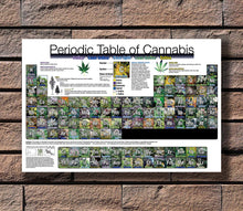 Load image into Gallery viewer, Periodic Table of Cannabis Unframed Canvas Poster