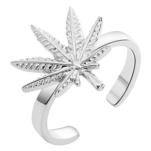 18K Gold or .925 Silver plated Leaf Engagement/Promise Ring