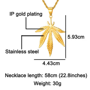 18K Gold-Filled Large Leaf Rope Chain