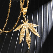 Load image into Gallery viewer, 18K Gold-Filled Large Leaf Rope Chain