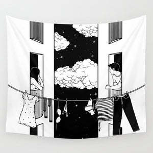 Living in the Clouds Tapestry, Sofa Cover or Video Backdrop