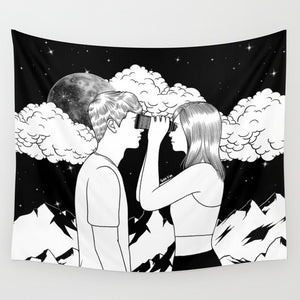 Gaze Into My Eyes Tapestry, Sofa Cover, Video Backdrop