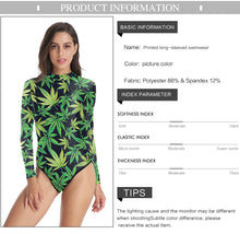 Load image into Gallery viewer, Kush Queen Long Sleeve Bodysuit/Swimsuit