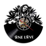 LP Vinyl Series One Love Marley Wall Clock Collectible