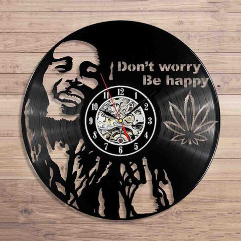 LP Vinyl Series Be Happy Marley Wall Clock Collectible