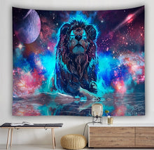 Load image into Gallery viewer, Meditating Lion Tapestry
