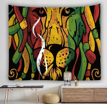 Load image into Gallery viewer, Rasta Lion Tapestry