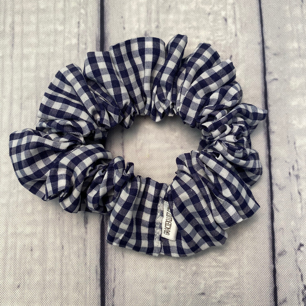 Navy Gingham Fun-chies by Gracie