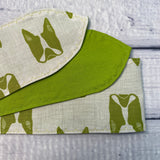 Green Modern Boston Terrier Headband