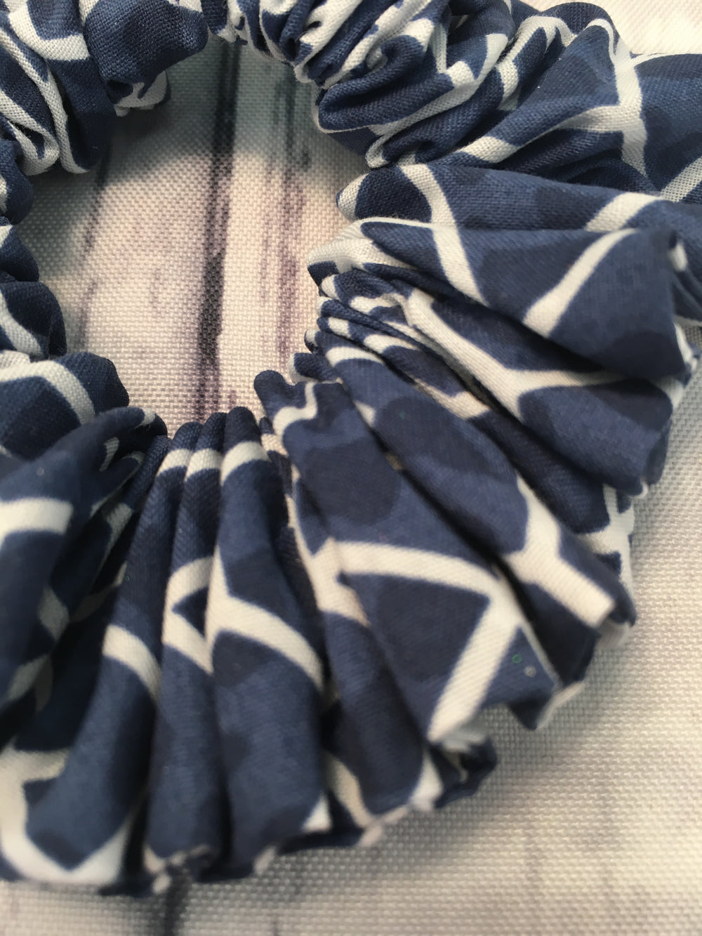 Navy with White Geometrics Fun-chies by Gracie