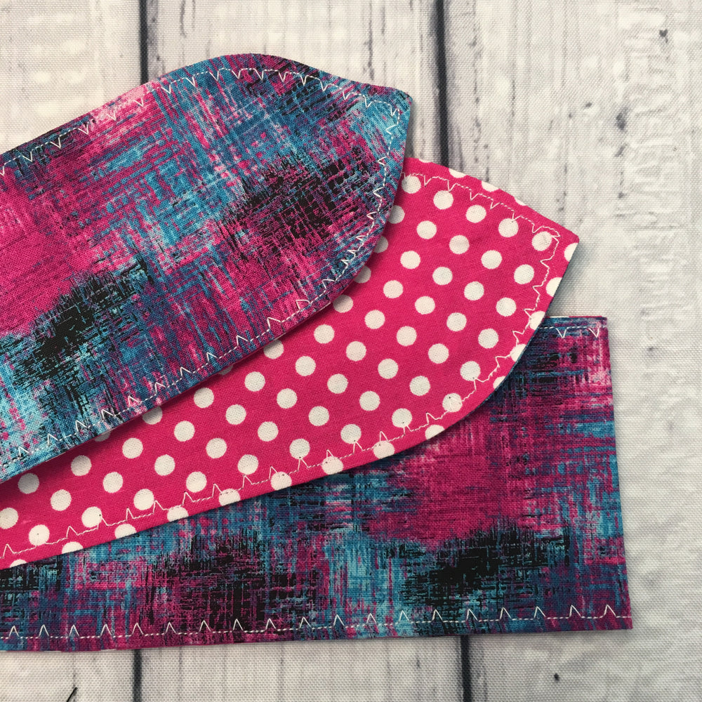 Pink & Teal Crosshatching