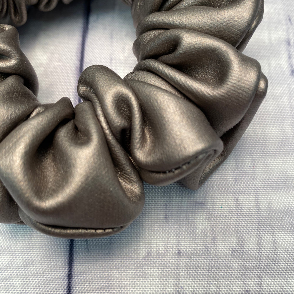 Pewter Pleather Fun-chies by Gracie
