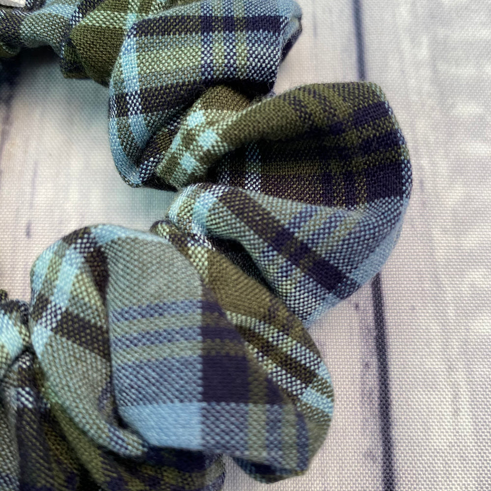 Grey Blue & Green Plaid Fun-chies by Gracie