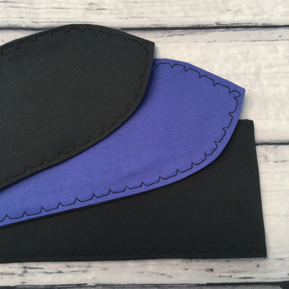 Charcoal & Royal Blue