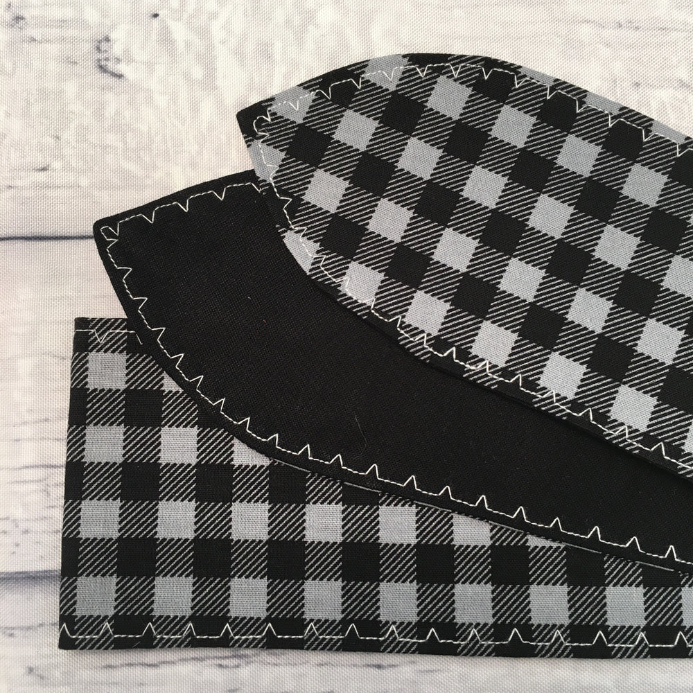 Grey and White Buffalo Plaid