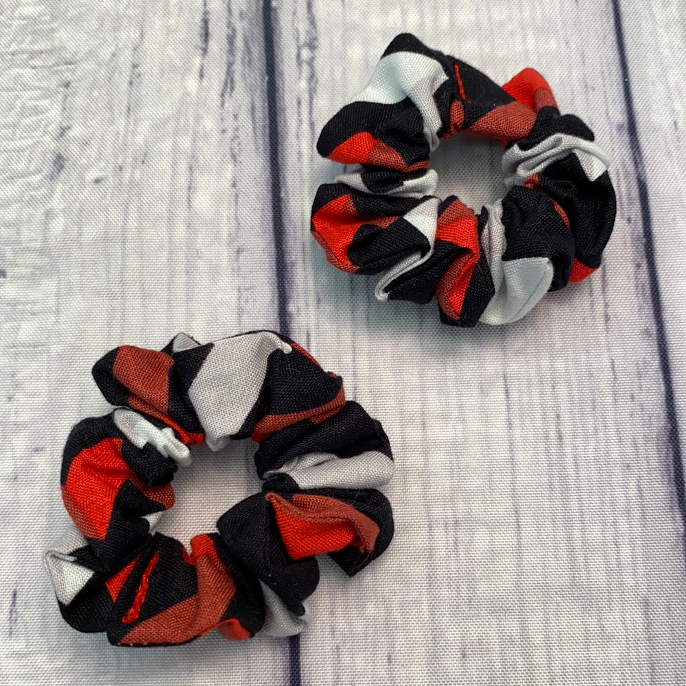 Black, Red & Grey Geometric Mini-Twin Set