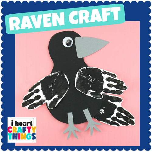 Handprint Raven or Crow Craft