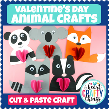 Load image into Gallery viewer, Animal Valentine's Day Crafts