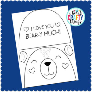 "I Love You ""Bear-y"" Much Valentine's Day Card or Mother's Day Card"