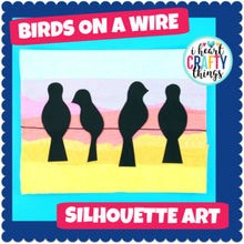 Load image into Gallery viewer, Birds on a Wire Art Project