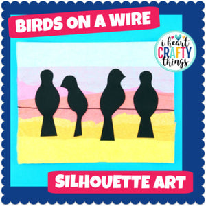Birds on a Wire Art Project