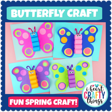 Load image into Gallery viewer, Butterfly Craft Template