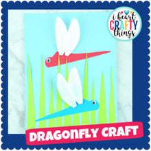 Load image into Gallery viewer, Paper Dragonfly Craft