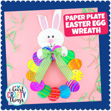 Load image into Gallery viewer, Paper Plate Easter Egg Wreath