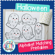 Load image into Gallery viewer, Halloween Alphabet Matching Game