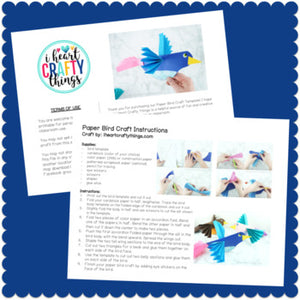Paper Bird Craft Activity